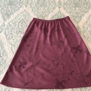 Talbots purple skirt